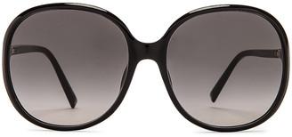 Givenchy Acetate Sunglasses in Black & Dark Grey | FWRD