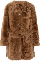 Marni Reversible Shearling And Leather Coat - Brown