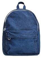 Front Pocket Denim Backpack