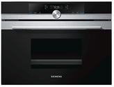 Siemens CD634GBS1B Integrated Single Electric Steam Oven, Black/Stainless Steel