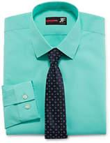 Jf J.Ferrar Slim Fit Dress Shirt + Tie Set