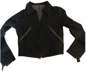 Isaac Sellam Brown Leather Leather Jacket for Women