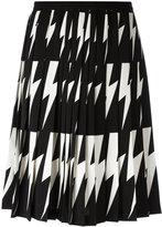 Neil Barrett lightning bolt pleated skirt - women - Polyester - 40
