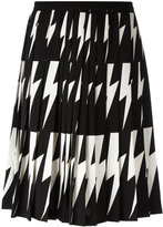 Neil Barrett lightning bolt pleated skirt