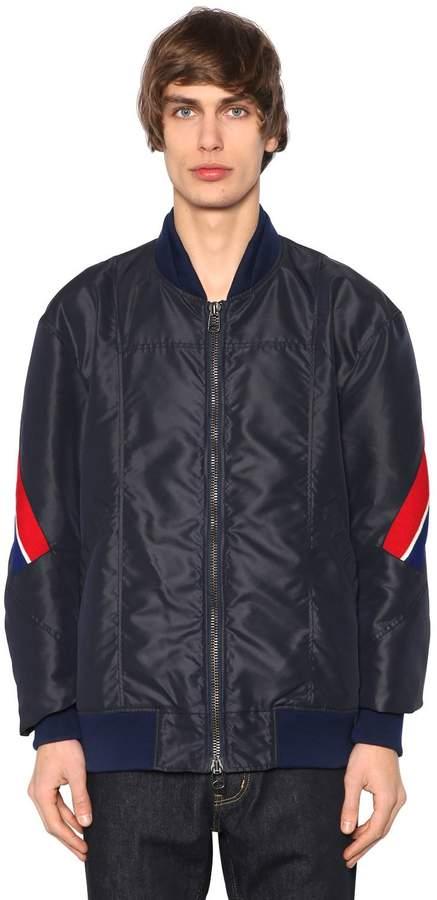 Facetasm Nylon Bomber Jacket W/ Striped Bands