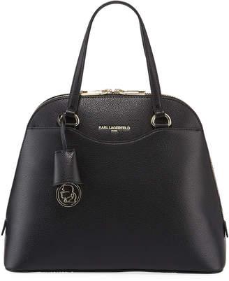 Karl Lagerfeld Paris Doreen Leather Top-Handle Satchel Bag