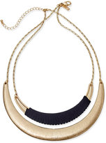 INC International Concepts Gold-Tone Faux-Suede-Wrapped Collar Necklace, Only at Macy's
