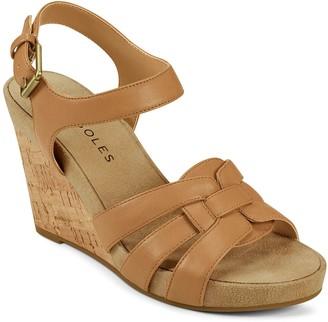 Aerosoles Pennsville Women's Strappy Wedge Sandals