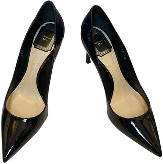 Christian Dior D-Stiletto Navy Patent leather Heels