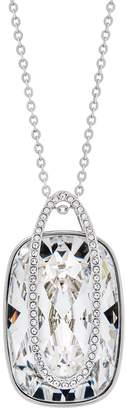 Swarovski Rhodium Plated Crystal Holding Pendant Necklace