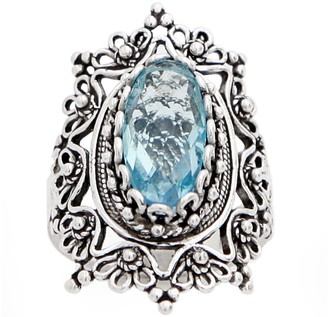 Artisan Crafted Sterling Filigree Gemstone Orna te Ring