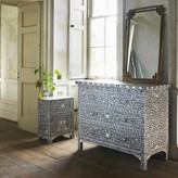 Graham and Green Classic Mother of Pearl Inlay Chest of Drawers in Grey