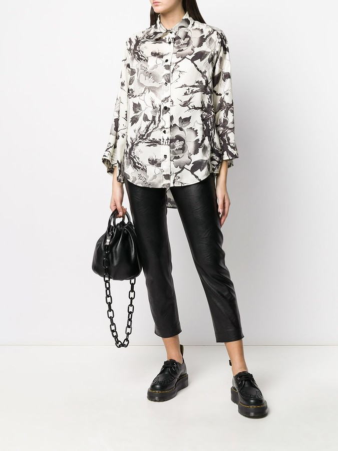 Thumbnail for your product : McQ Swallow Floral Print Blouse