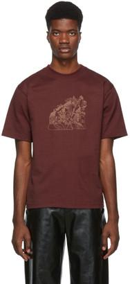 St-Henri SSENSE Exclusive Burgundy Lorem T-Shirt