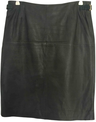 HUGO BOSS Green Leather Skirt for Women