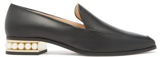 Nicholas Kirkwood Casati Pearl-heel Leather Moccasins - Black