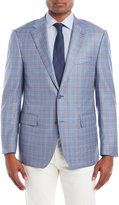 ibiza Blue Plaid Sport Coat
