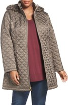 Laundry by Shelli Segal Quilted Hooded Coat (Plus Size)