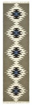 Solo Rugs Runner Alva Geometric Hand-Knotted Brown Area Rug
