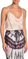 Young Fabulous & Broke Yfb By Sweetie Cowl Neck Satin Tank Top
