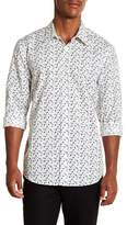 Perry Ellis Confetti Slim Fit Long Sleeve Woven Shirt