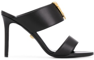 Versace Virtus leather mules