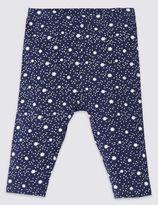 Marks and Spencer Unisex Cotton Rich Christmas Star Print Leggings