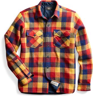 Ralph Lauren Plaid Wool Twill Overshirt