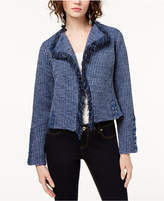 INC International Concepts Lace-Up Tweed Cardigan, Created for Macy's