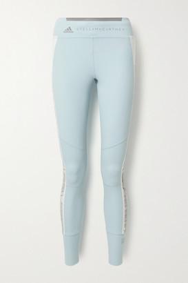 adidas by Stella McCartney Snake-print Stretch Leggings - Light blue