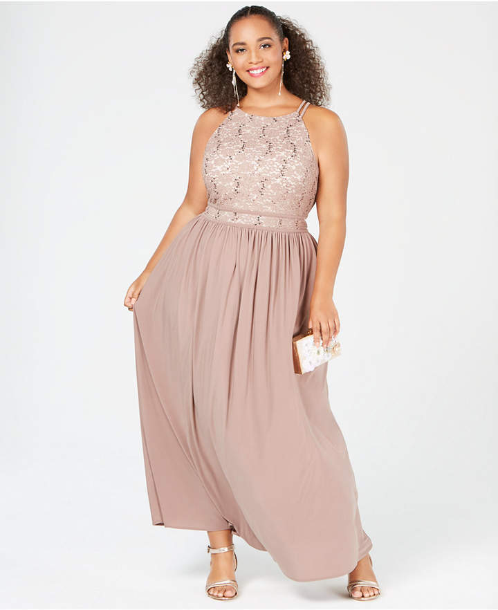 Taupe Plus Size Dress - ShopStyle