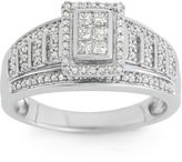 JCPenney MODERN BRIDE 1/2 CT. T.W. Diamond 10K White Gold Multi-Top Bridal Ring