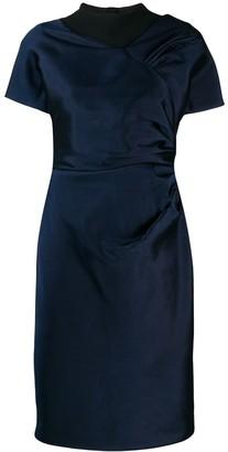 Christian Dior Pre-Owned draped detail knee-length dress