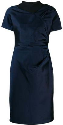 Christian Dior Pre-Owned Draped Detail Knee-Length Dress