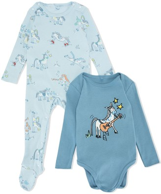 Stella McCartney Kids Horse-Print Pajamas And Body Set