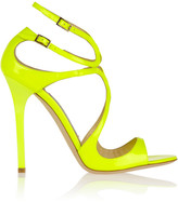 Lance neon patent-leather sandals