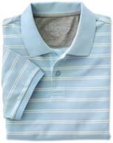 Charles Tyrwhitt Slim fit sky and white dual striped pique polo