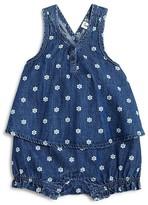 Splendid Infant Girls' Flower Print Denim Romper - Sizes 3-24 Months