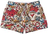 MC2 Saint Barth Tattoo Printed Nylon Swim Shorts