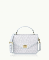 GiGi New York Courtney Satchel Ice Italian Crosshatch