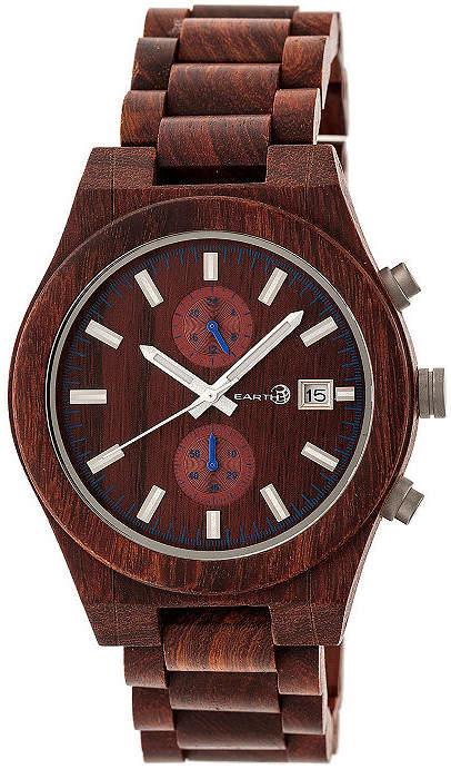 Earth Wood Castillo Unisex Red Bracelet Watch-Ethew5103