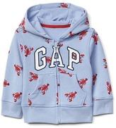 Logo lobster zip hoodie