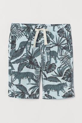 H&M Cotton Shorts - Turquoise