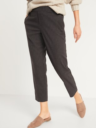 Old Navy Mid-Rise Straight Plaid Pull-On Ankle Pants