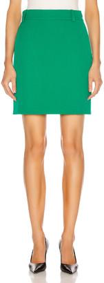 Balenciaga Fitted Mini Skirt in Emerald Green | FWRD