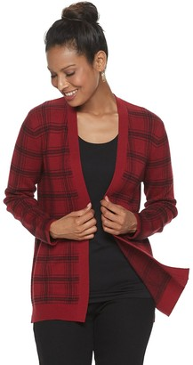 Croft & Barrow Women's Essential Open-Front Cardigan