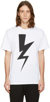 Neil Barrett White One Thunder T-Shirt