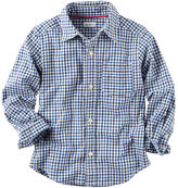 Carter's Poplin Checkered Button-Front Shirt