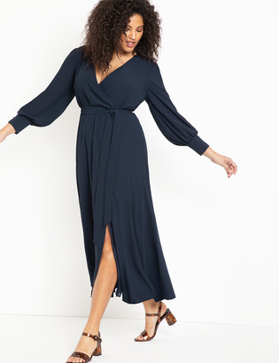 ELOQUII Maxi Wrap Dress