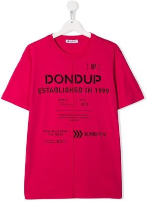 Dondup Kids TEEN cotton printed T-shirt